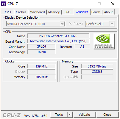 Y720 - CPU-Z (Graphics)
