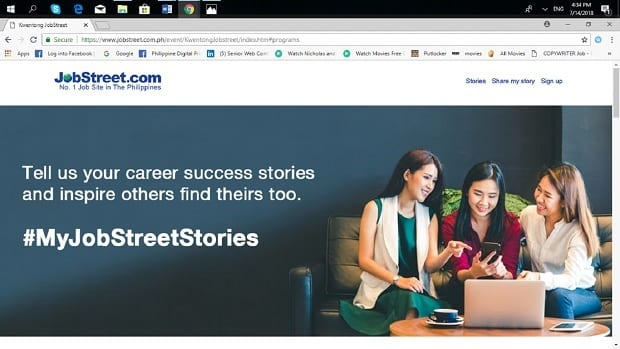 The Campaign Encourages Individuals Who Successfully Found Employment Via JobStreet To Share Their Experiences Help Others In Own Job Search And