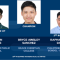 Grace Christian College whiz tops PH Math Olympiad for 3rd straight year